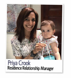 Priya Crook, Residence Bookings and Relationship Manager at UK Student Residences